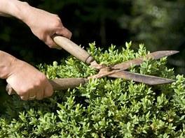 S obyčejnými nůžkami, které se samy nevracejí do původní polohy se při
