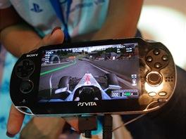 PlayStation Vita od Sony na herní akci Gamescom v Kolíně