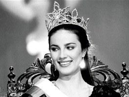 Ivana Christov� se stala Miss �eskoslovenska 9. dubna 1989.
