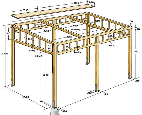 Montážní plánek s rozměry