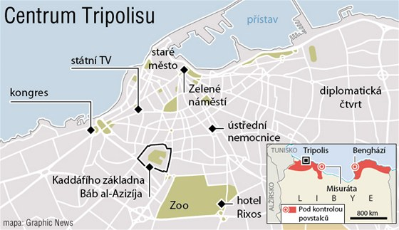 MAPA: Centrum Tripolisu