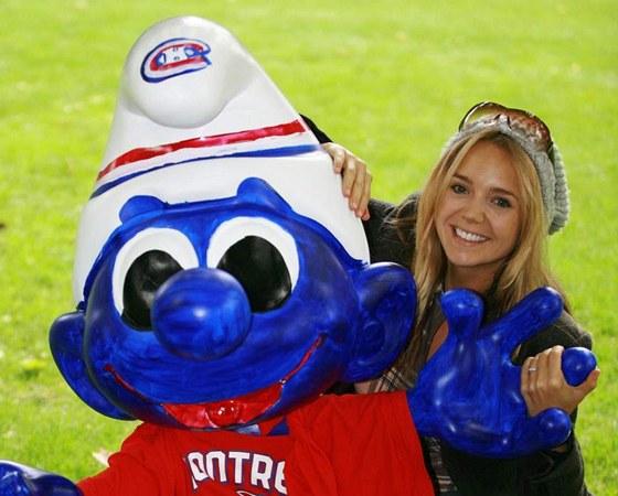 Lucie Vondr��kov� a jej� hokejov� �moula
