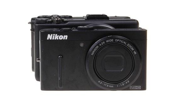 Porovnání rozměru testovaných fotoaparátlů Nikon P300, Olympus XZ-1 a Samsung