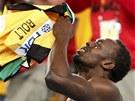 CO SE TO STALO? Jamajsk� sprinter Usain Bolt pro��v� zlou chv�li. Kv�li ulit�mu
