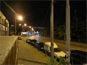 Noční snímek pořízený fotoaparátem Samsung EX1
