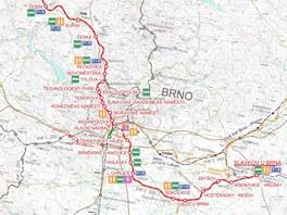 Trasa plánovaného Severojižního kolejového diametru, který má v roce 2030