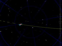 Kudy poletí ISS 26.8.2011 (Praha). Výstup z aplikace GoAtlantis pro iPad.
