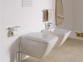 Koupelnovou keramiku Laufen Palace dopl�uj� z�v�sn� i stoj�c� bidety a klozety