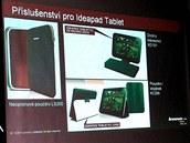 P��slu�enstv� tabletu Lenovo IdeaPad K1.