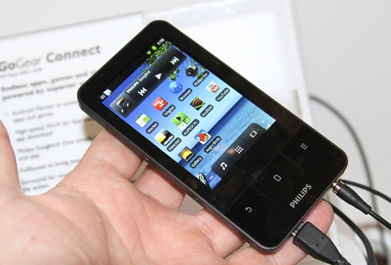Philips GoGear Connect je koncpet MP3 přehrávače / minitabletu. Jede na systému