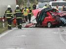 Tragická dopravní nehoda u Obědovic. (8. září 2011)