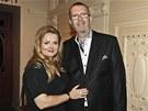 Richard Müller a jeho přítelkyně Vanda Wolfová na křtu retrospektivní kolekce desek Všetko