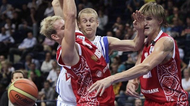 Momentka z utkání Rusko - Finsko.