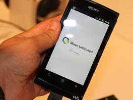 Prototyp MP3 přehrávače / tabletu Sony. Dokáže přehrát jak obsah uožený v