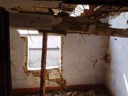 Prostor dnešní koupelny před rekonstrukcí.