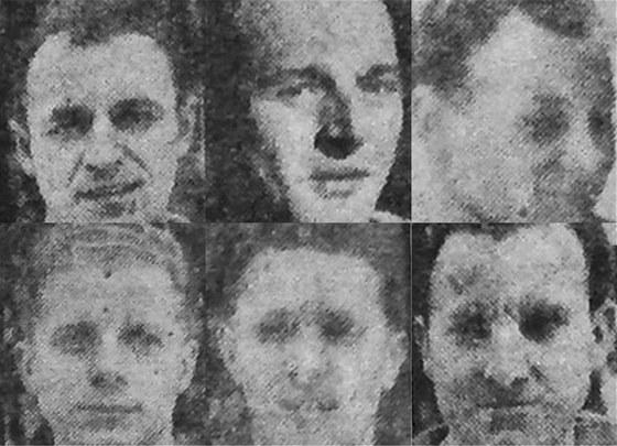 Šest československých hokejistů, kteří zemřeli 8. listopadu 1948