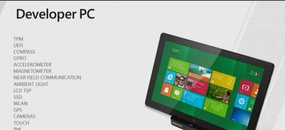 Vybavení tabletu Samsung s Windows 8