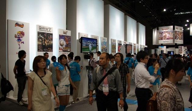 Mobilní hry a aplikace na Tokyo Game Show 2011 - na stánku firmy Gree