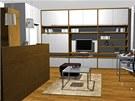 Druhá proměna. Pohled do obývací kuchyně