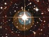 Skutečný snímek HD 85512, která je mateřskou hvězdou exoplanety HD 85512b. Je