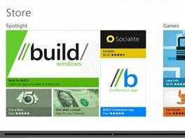 Obchod s aplikacemi ve  Windows 8