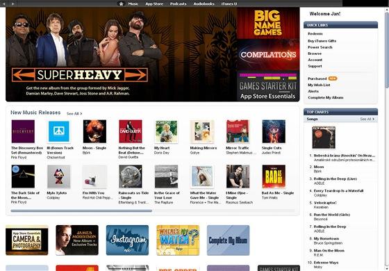 Česká verze iTunes store