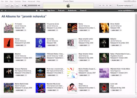 iTunes - nechybí česká hudba