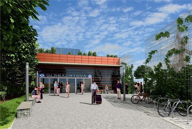 Takto bude vypadat stanice Olbrachtova.