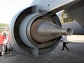 Pohled na nový motor CFM56. Z pohledu je velmi dobře vidět princip