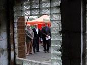 Chebský starosta (zleva) Pavel Vanoušek, místostarosta Vladimír Hartmann a