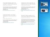 Porovnání rozdělení plochy Windows 8 pro dvě běžící aplikace. Roztažená RSS