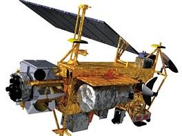 Družice UARS tak, jak byl vypuštěna na oběžnou dráhu