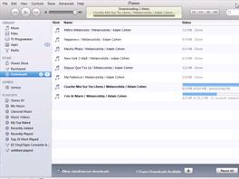 iTunes - stahování alba