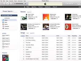 iTunes - výběr alba ke stažení