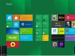 Základní nabídka menu ve Windows 8 při najetí myši do levého dolního roku
