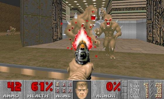 Ve skute�nosti je Doom nen� pln� 3D ale jen tzv. 2.5D, jeliko� pohyb nahoru a dol� je vytvo�en pouze iluz�.