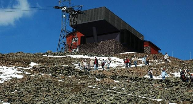Vizualizace nové stanice lanovky na Sn�ce