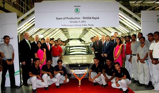Nová Škoda Rapid startuje výrobu v indické továrně