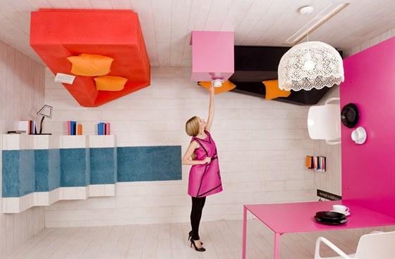 Stavíme interiér na hlavu, expozice časopisu Moderní byt