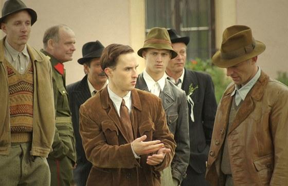 Z natáčení filmu 7 dní (J. Hylebrant - uprostřed)