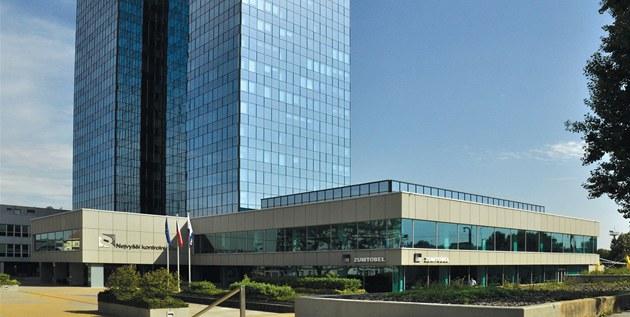 Pra�ská budova v Jankovcov� ulici, kde sídlí NKÚ.