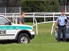 Policisté vyšetřují zničení dráhy na závodišti v Pardubicích