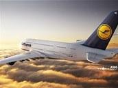 A380 Lufthansy (ilustrační snímek)