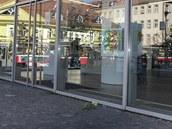 Prodejna iStyle na pražském Smíchově den po úmrtí Steva Jobse