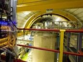 Cíl švýcarských neutrin: detektor v laboratoři Gran Sasso ve střední Itálii,