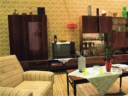 Obývací stěna byla zlatým hřebem obývacího pokoje.