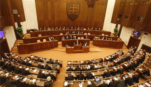 Slovenský parlament b�hem hlasování o EFSF (11. �íjna 2011)