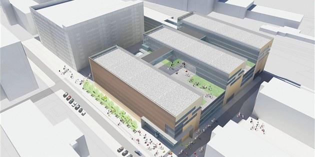Vizualizace podoby nových budov Uni reality