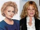 Melanie Griffithov� v roce 1988 (ve filmu Podnikav� d�vka) a v sou�asnosti (2011)