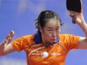 Naturalizovaná nizozemská stolní tenistka Li Ťiao.